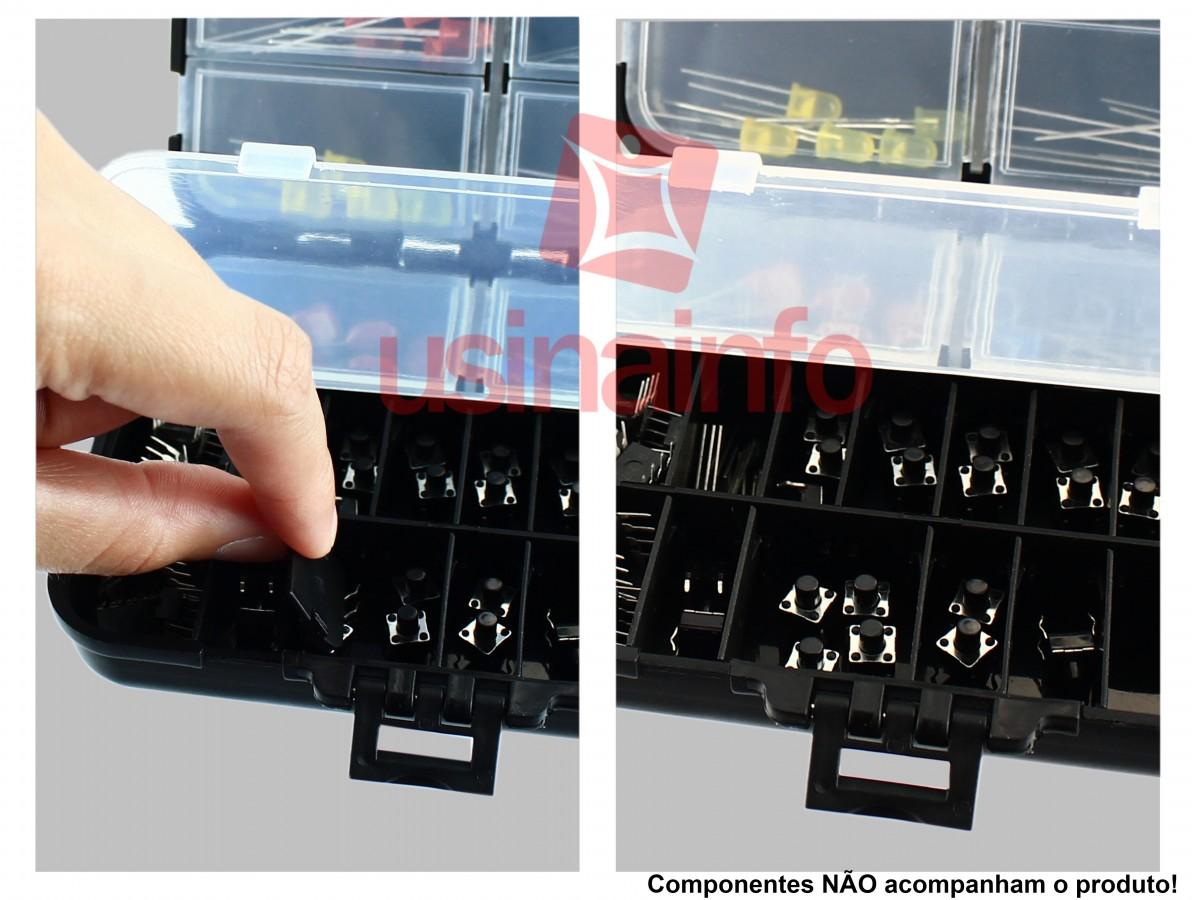 Mini Caixa Organizadora com 26 divisórias