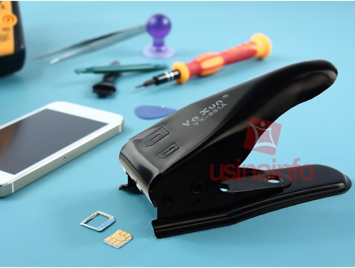 Cortador de chip 2 em 1: Nano e Micro (SIM)  - YX-681A (DESCONTINUADO)