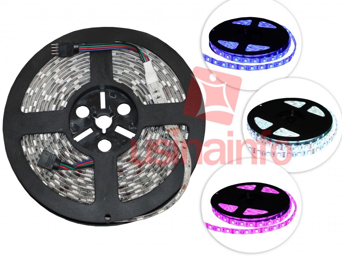 Fita de LED RGB + Controlador RGB - 300 LEDS RGB 5050 - Rolo com 5 metros