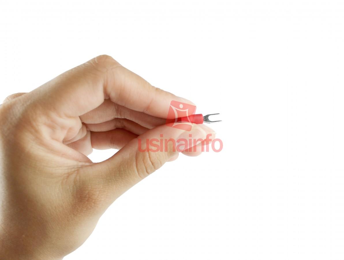 Terminal Forquilha Pré-isolado / Terminal Tipo Garfo - Vermelho - Kit com 20 unidades