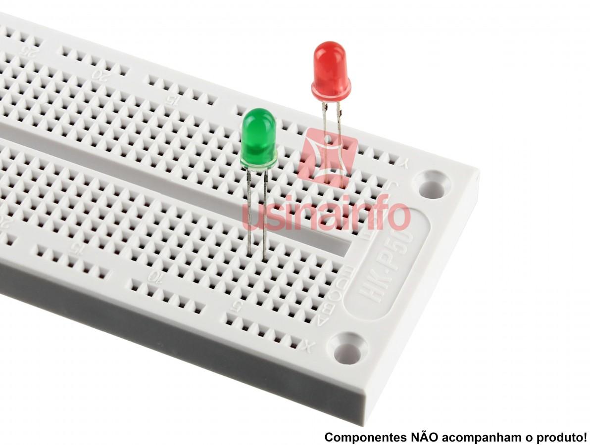 Protoboard 760 pontos para montagem de projetos - HK-P50