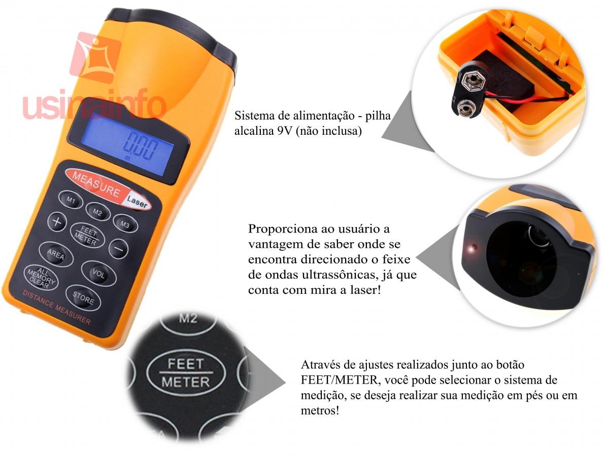 Trena Digital Ultrassônica com Mira a Laser - CP3008
