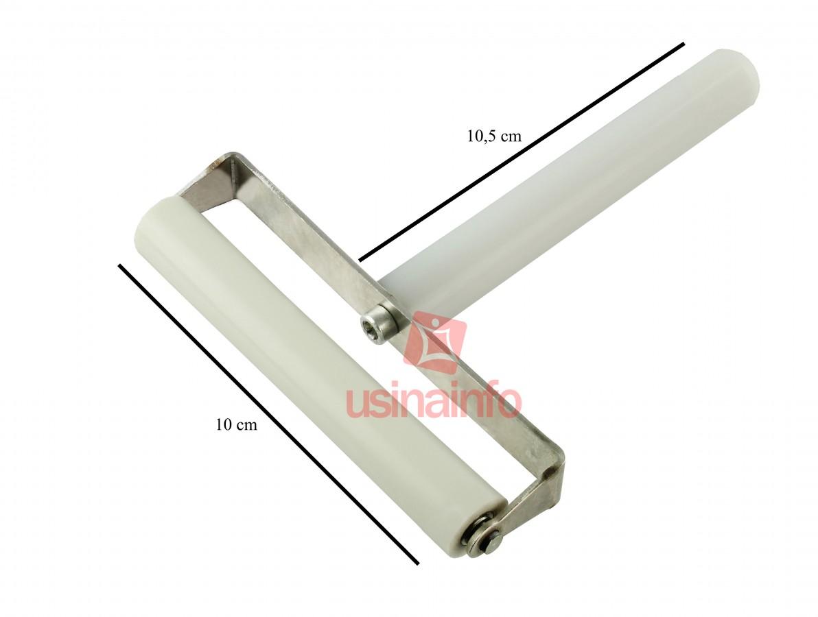 Rolo de Silicone com cabo para aplicação de películas - Modelo C (10cm)