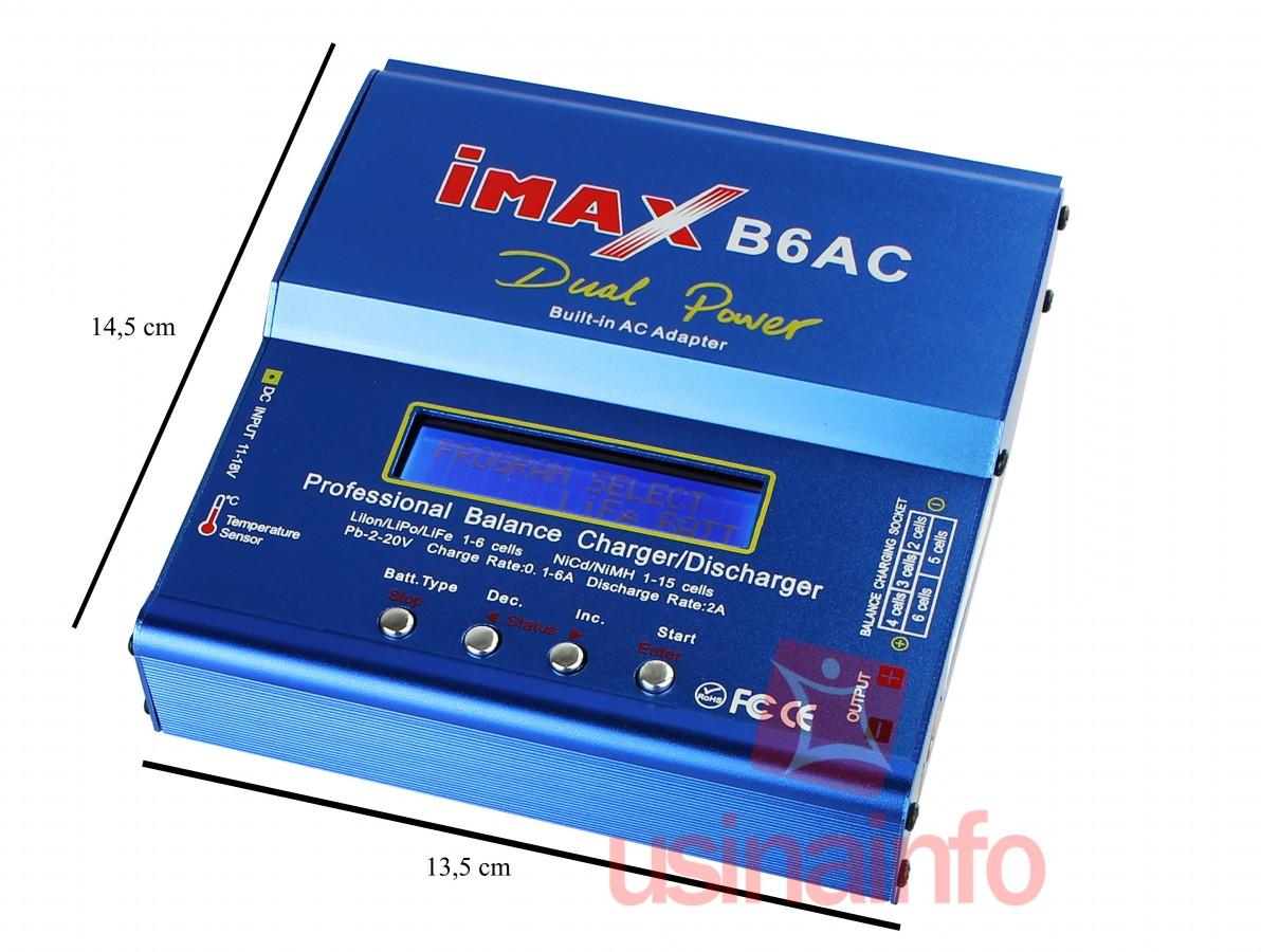 Carregador de Bateria Inteligente / Programável para Aeromodelos e Drones - iMAX B6AC