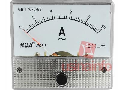 Amperímetro Analógico para Corrente Alternada 0-10A AC