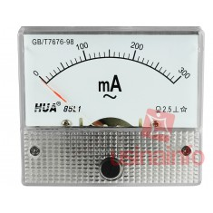 Amperímetro Analógico para Corrente Alternada 0-300mA AC