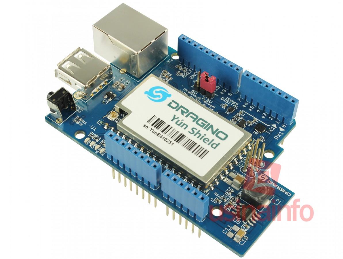 Yún Shield para Arduino Leonardo, Uno e Mega - Dragino