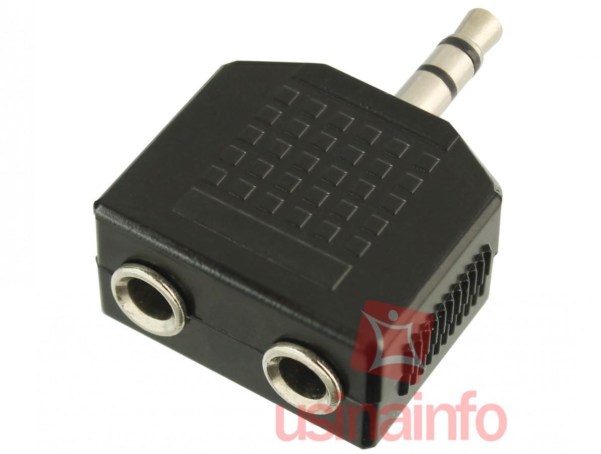 Adaptador 2 P2 Estéreo - Niquelado