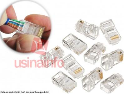 Conectores RJ45 SohoPlus - Kit com 10 unidades