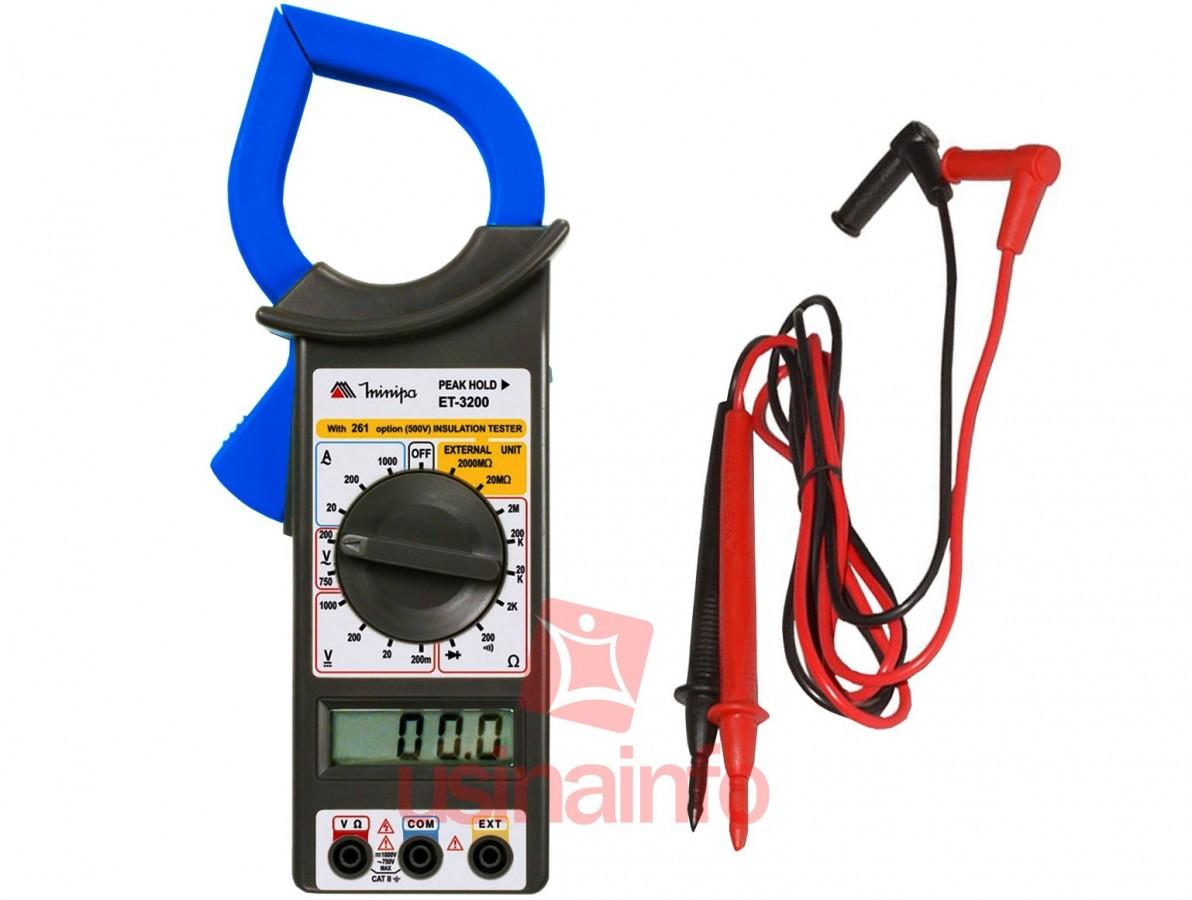 Alicate Amperímetro Digital Minipa - ET3200