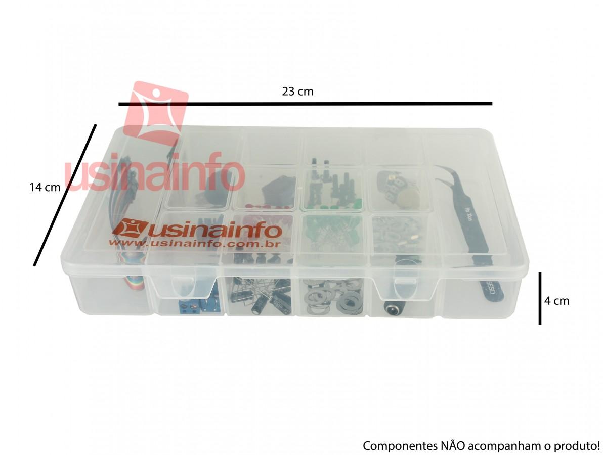 Caixa Organizadora M de 23x14x4cm com 14 divisórias