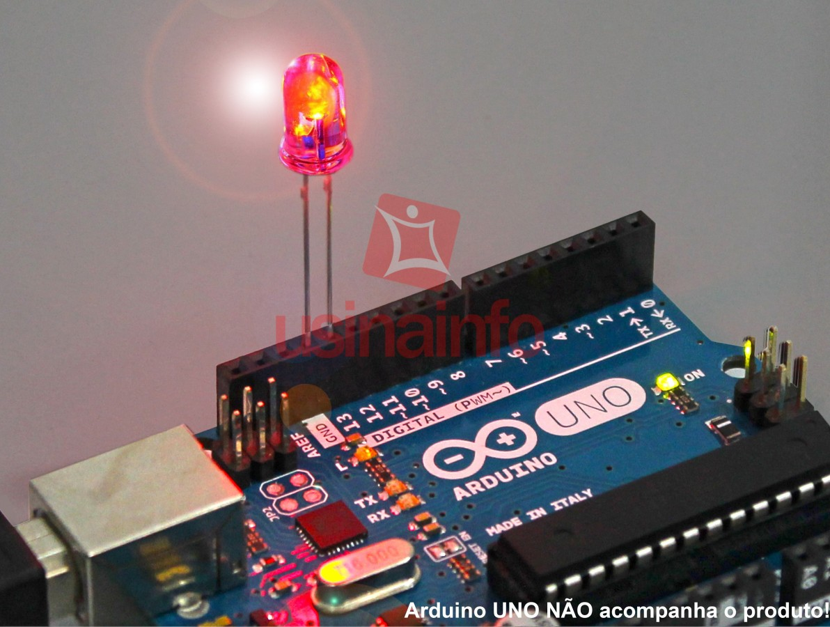 LED Pisca Automático Vermelho de Alto Brilho 5mm