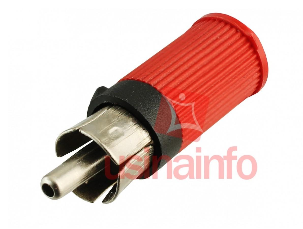 Conector RCA / Plug RCA Macho - Vermelho