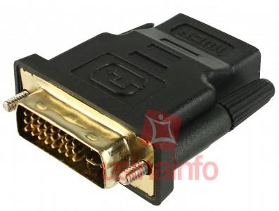Adaptador DVI para HDMI (DVI macho 24 + 5 pinos X HDMI fêmea)