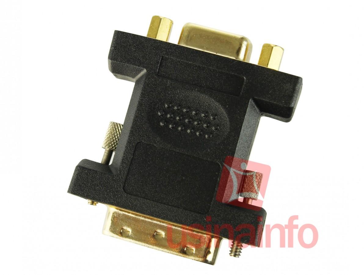 Adaptador DVI para VGA (DVI macho 24 + 5 pinos X VGA fêmea 15 pinos)