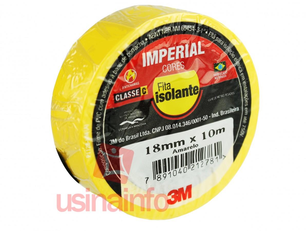 Fita Isolante Colorida 3M Imperial 18mm x 10m - Amarela