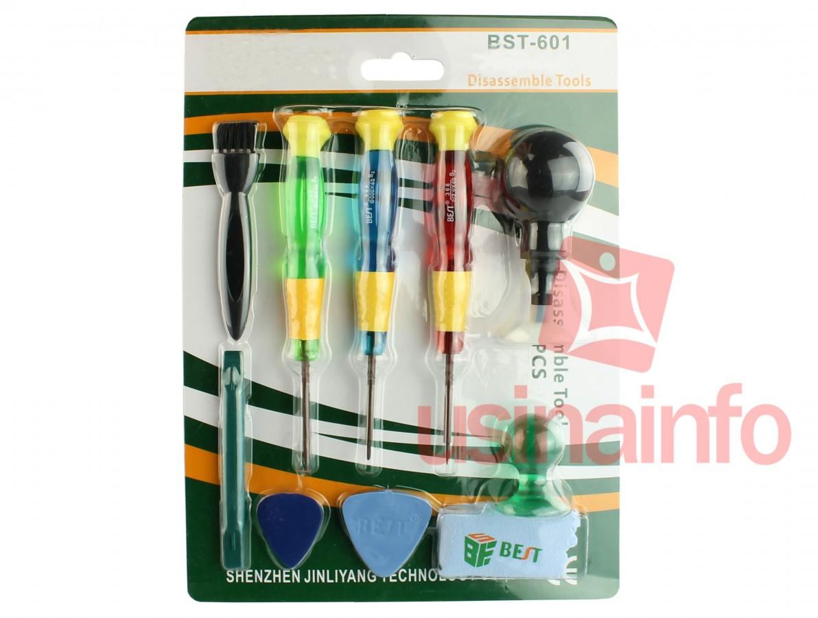 Jogo de Chaves Pentalobe / Philips / Fenda + Chaves Plásticas + Ventosas para Manutenção de Equipamentos