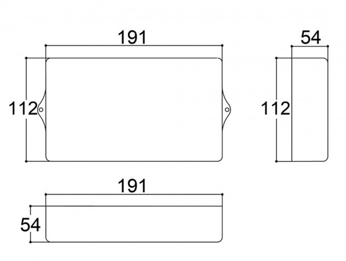 Caixa Patola / Case para Montagem 54 x 112 x 191 mm - PB-119/2 TE
