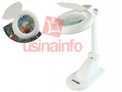 Lupa de Bancada com iluminação LED e Aumento de 3D e 12D - HL-200 LED