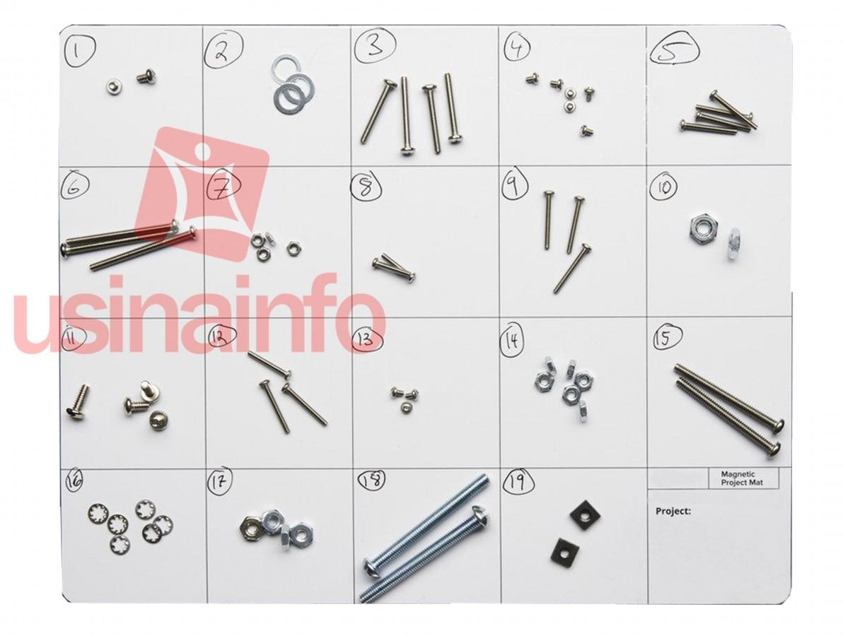 Manta Magnética PAD / Magnetic Project Mat 30x25cm para Manutenção de Smartphones e Eletrônicos
