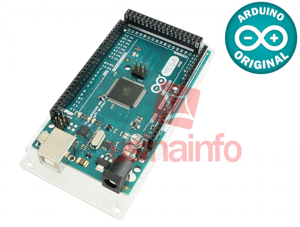 Arduino Mega Original 2560 + Base Acrílica Oficial
