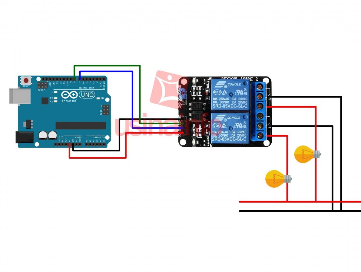 Módulo Relé 2 canais 5v para Arduino