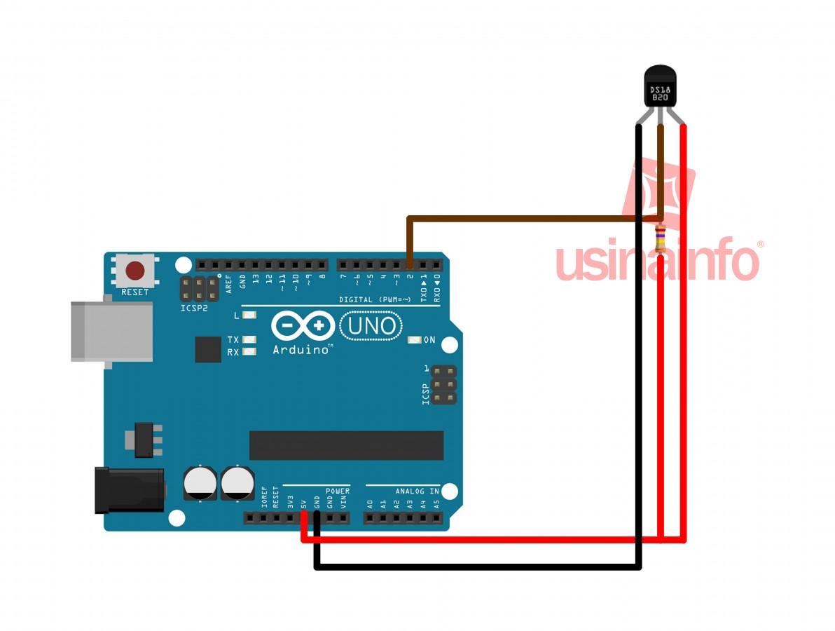 Sensor de temperatura digital Dallas para Arduino - DS18B20