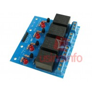 Módulo Relé 5V 10A 4 Canais para Arduino e Raspberry Pi - P26