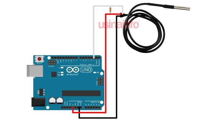 Sensor de Temperatura DS18B20 à Prova D'Água