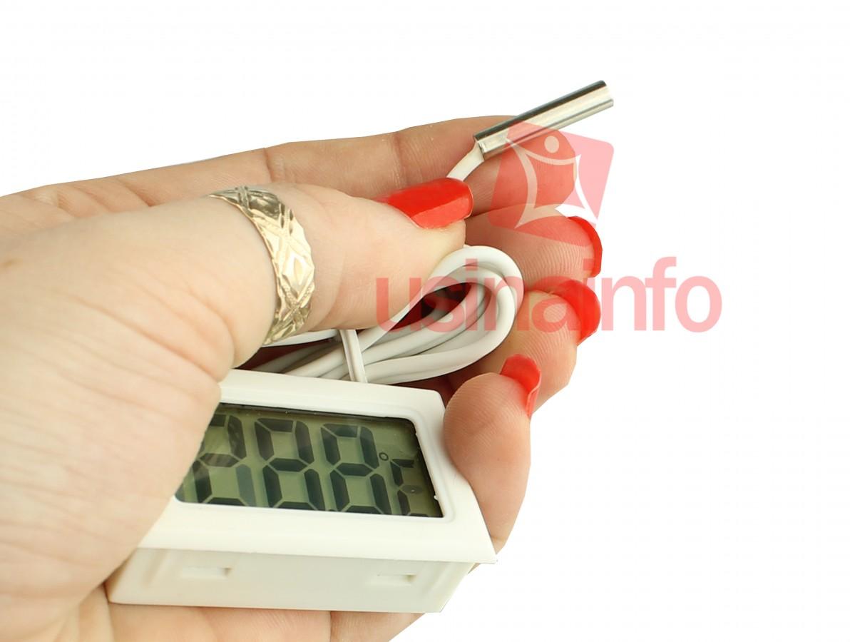 Termômetro Digital para Painel -50 a 110°C - Branco