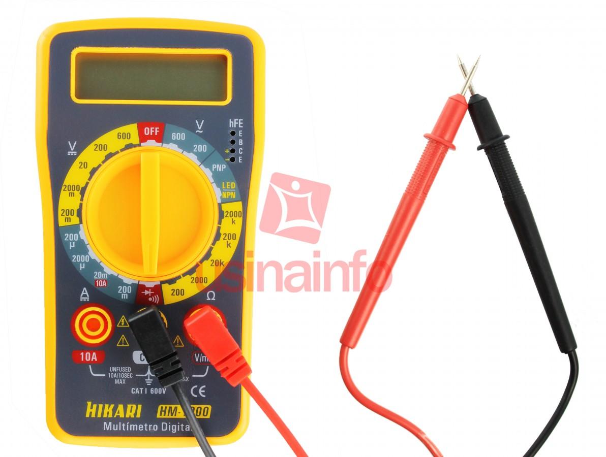 Multímetro Digital Hikari HM-1000 CAT I 600V