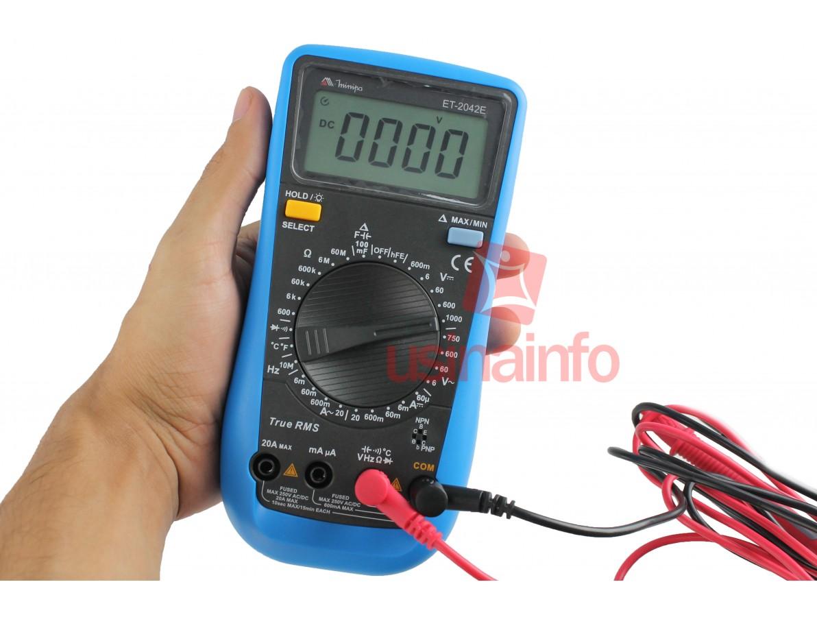 Multímetro / Capacímetro Digital Minipa ET-2042D