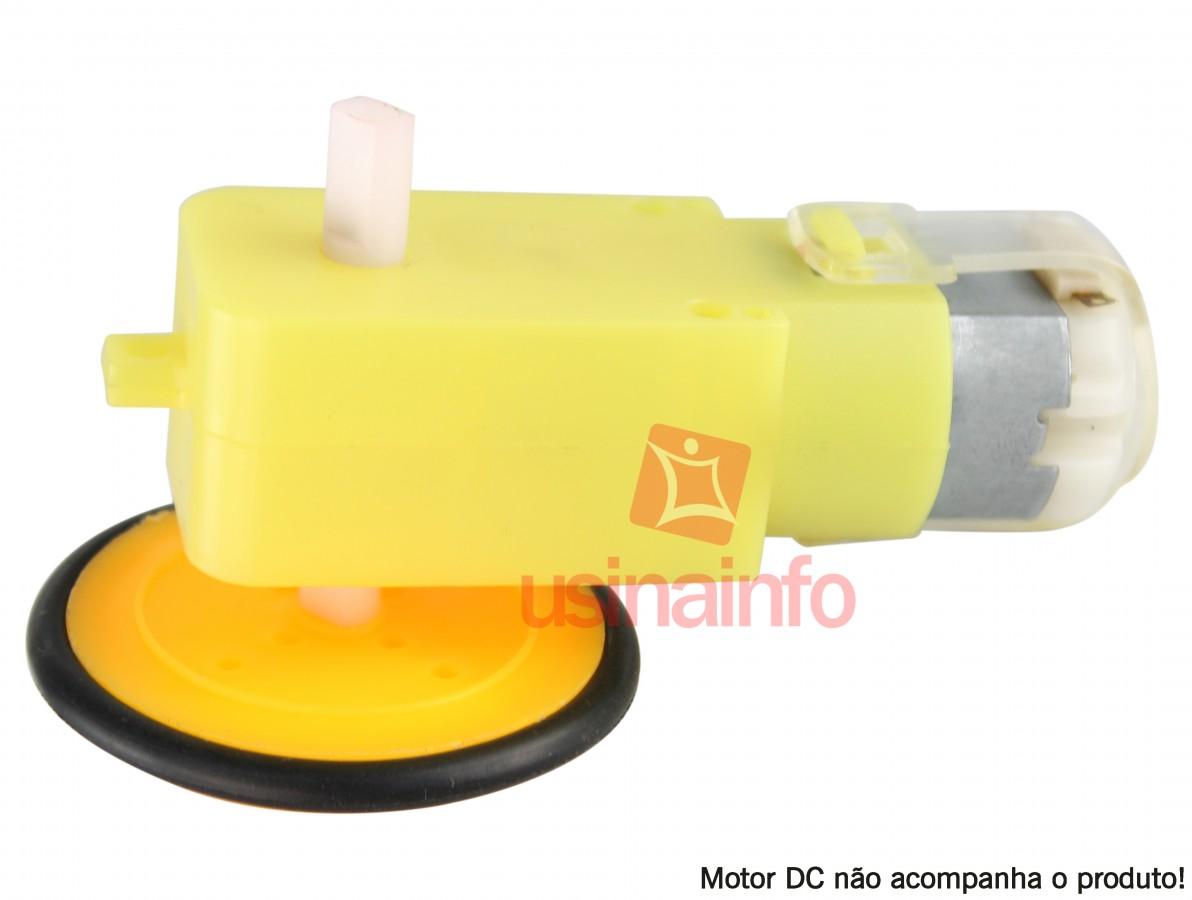 Roda para Robótica 40mm Slim Compatível com Motores com Caixa de Redução e Servomotores