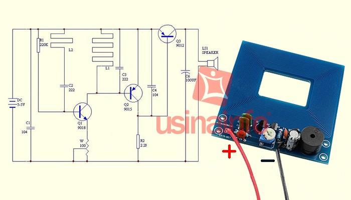 Módulo Detector De Metais 5V Para Projetos