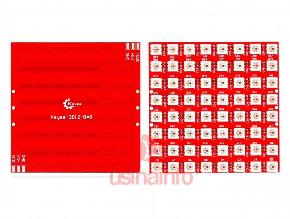Matriz de Leds WS2812 8x8 RGB Endereçados
