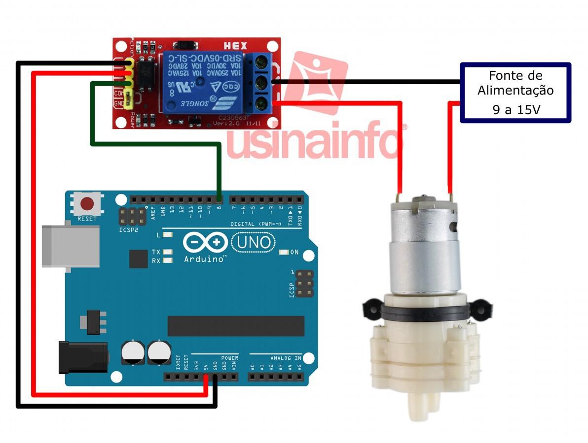 Mini bomba de água (d'água) para Arduino - RS-360SH