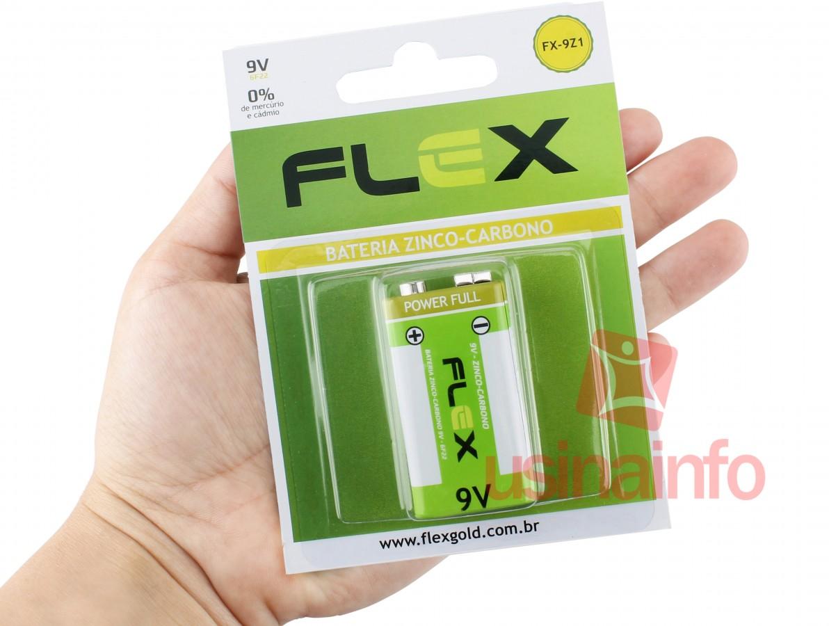 Bateria 9V Zinco-Carbono Flex