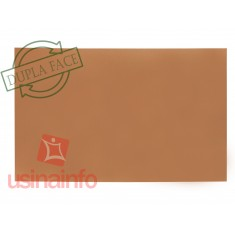 Placa de Fibra de Vidro Cobreada Dupla Face 10x15cm
