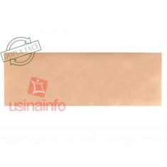 Placa de Fibra de Vidro Cobreada Dupla Face 10x30cm