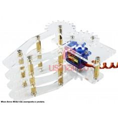 Garra Robótica Arduino 4X em Acrílico + Espaçadores e Parafusos