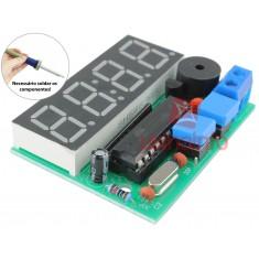 Kit Projeto Relógio Eletrônico Digital AT89C2051 com Alarme DIY