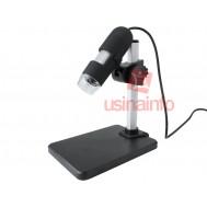 Microscópio Digital USB 2.0MP 500X Premium + Suporte Ajustável - Distância Focal 0 a 50mm