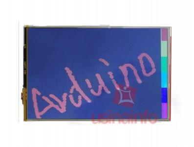 "TFT LCD 4.3"" Touch Screen + Shield Adaptador para Arduino Mega com Slot SD"