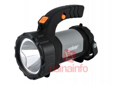 Lanterna Holofote Led CREE Recarregável com Luz Lateral COB SLP-404 - Até 300 Metros