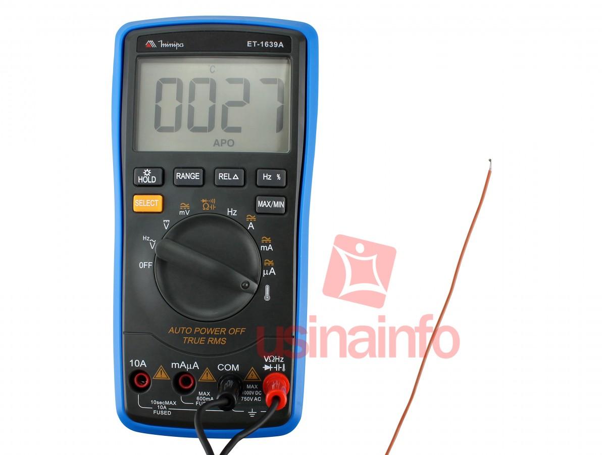 "Multímetro Digital Minipa ET-1639 Automático ""AutoRange"" Com True RMS CAT III 600V"