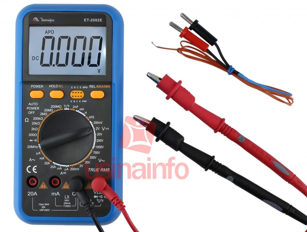 Multímetro Capacímetro Digital Minipa ET-2082E Com True RMS CAT III 600V