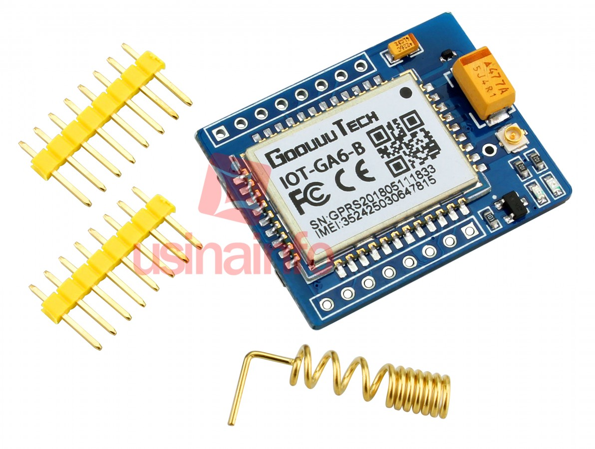 Módulo Gsm Arduino A6 Gsm Gprs Sms Quad Band Com Slot Para Sim Antena