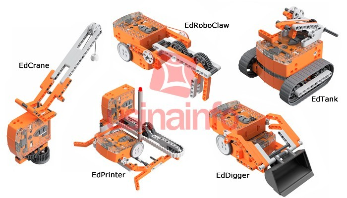 EdCreate Kit Robótico para o Robô Edison 115 Blocos - Crie Novos Robôs