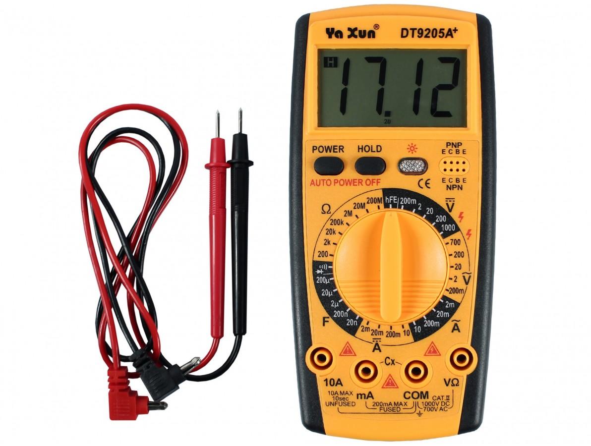 Multímetro com Capacímetro digital e auto-desligamento- DT9205A+