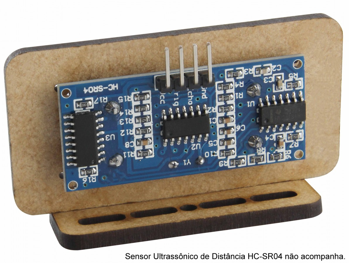 Suporte para Sensor Ultrassônico - Retangular em MDF